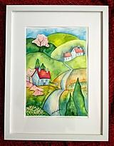 Obrazy - Jar v dedinke / Spring village - Originál - 10546520_