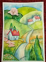 Obrazy - Jar v dedinke / Spring village - Originál - 10546527_
