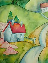 Obrazy - Jar v dedinke / Spring village - Originál - 10546530_