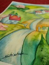 Obrazy - Jar v dedinke / Spring village - Originál - 10546535_