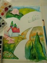 Obrazy - Jar v dedinke / Spring village - Originál - 10546536_