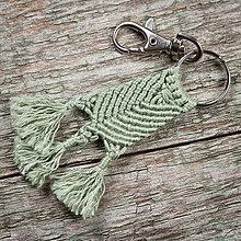 Kľúčenky - Výpredaj - Kľúčenka - makramé - trojnožka - 10549000_