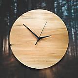 Hodiny - Drevené dekoračné hodiny - Poplar Loft 1 - 10546048_