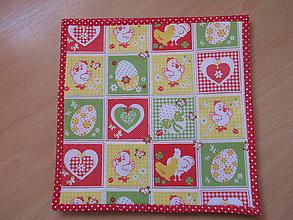 Úžitkový textil - Veľkonočné prestieranie -pexeso (Žltá) - 10547404_