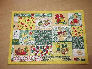 Úžitkový textil - Veľkonočné prestieranie -zajačik a vajíčko - 10547580_