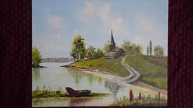 Obrazy - Ticho tečie rieka... - 10545792_