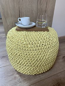 Úžitkový textil - Háčkovaný puf - 10546797_