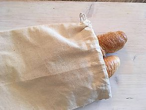 Úžitkový textil - Ľanové vrecko vrecúško - 10549078_