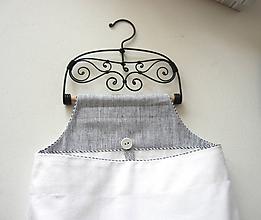 Úžitkový textil - Organizér s drevenou tyčkou. - 10548028_
