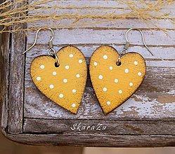 Náušnice - Simple heart dots // Amber - 10547348_