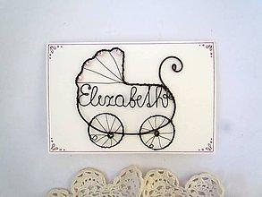 Iné - drôtovaná pohľadnica (Ružová) - 10547595_