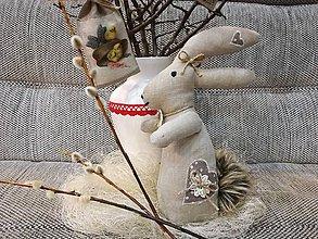 Dekorácie - Veľkonočný zajac. - 10548604_