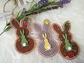 Dekorácie - Susugo Veľkonočné zajace. - 10548765_