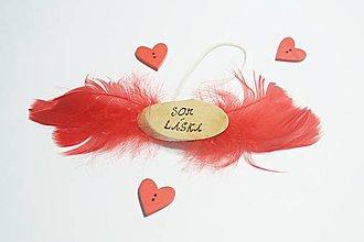 Dekorácie - Som láska - pozitívne afirmácie - 10546920_