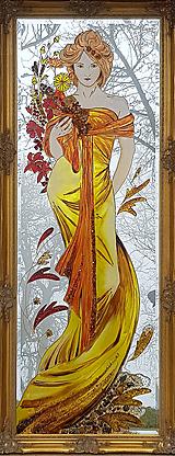 Obrazy - Maľované zrkadlo - 10548456_