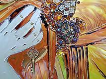 Obrazy - Maľované zrkadlo - 10548464_