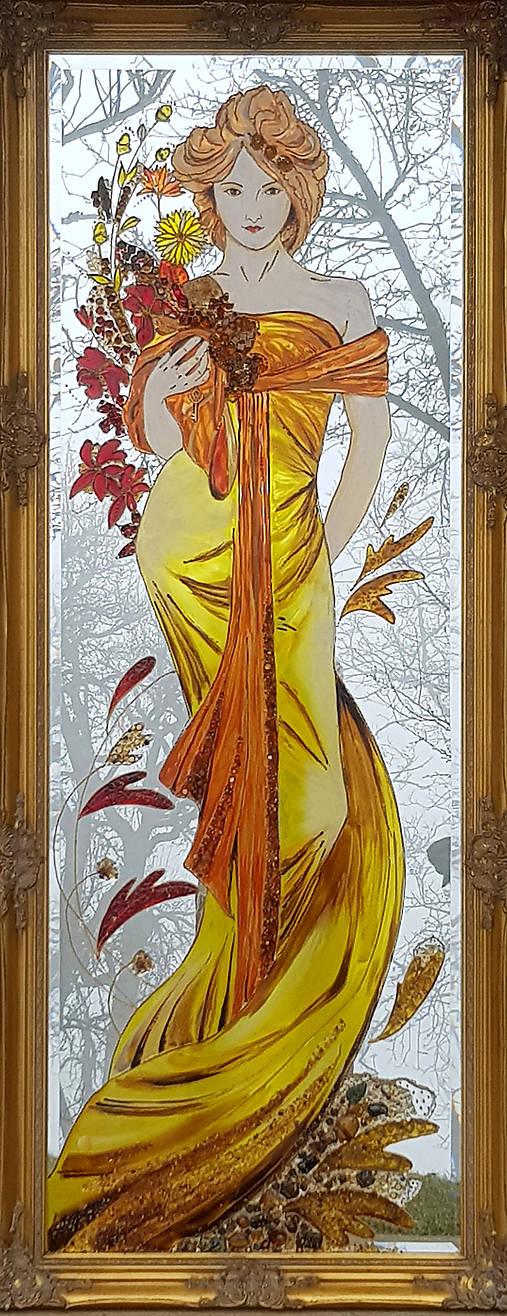 Maľované zrkadlo