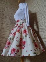 Sukne - Kvetovaná sukňa - 10545744_