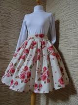Sukne - Kvetovaná sukňa - 10545745_