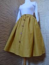 Sukne - Horčicová sukňa - 10546753_