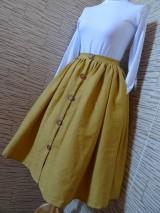 Sukne - Horčicová sukňa - 10546755_