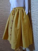 Sukne - Horčicová sukňa - 10546760_