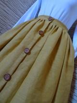 Sukne - Horčicová sukňa - 10546762_