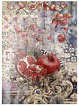 Papier - Ryžový papier A3, č. 660, granátové jablko - 10552716_