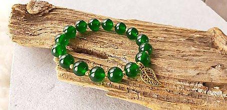 Náramky - Náramok zelený jadeit - 10549328_