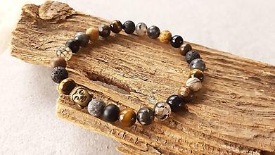 Šperky - Náramok z minerálov a buddhom - 10550619_