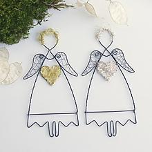 Dekorácie - anjelik - 10549643_
