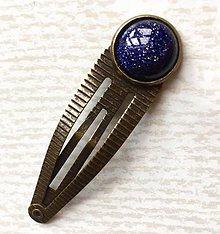 Ozdoby do vlasov - Blue Sun stone Bronze Hairpin / Sponka do vlasov s modrým synt. aventurínom /2050 - 10549326_
