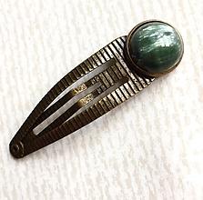 Ozdoby do vlasov - Seraphinite Bronze Hairpin / Sponka do vlasov so serafinitom /2050 - 10549379_