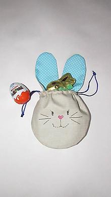Detské tašky - Vrecúška na veľkonočnú výslužku  (Tyrkysová) - 10551840_