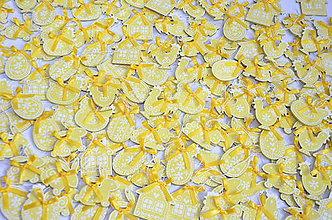 Dekorácie - Žlté veľkonočné ozdobky - 10551047_