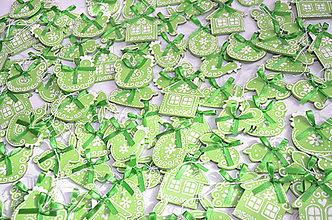 Dekorácie - Zelené veľkonočné ozdobky - 10551050_