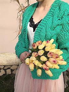 Svetre/Pulóvre - Romantic cardigan-peppermint - 10549817_