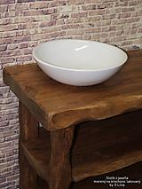 Nábytok - Stolík - skrinka pod umývadlo - NATURAL masív - 10551848_