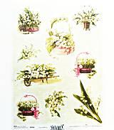 Papier - Ryžový papier na decoupage -A4-R358- Veľká noc, konvalinka - 10549548_