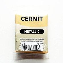 Modelovacie hmoty - Cernit 56 g, METALLIC, metalická šampanská 045 - 10549978_