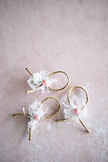 Pierka - Svadobné pierka s krajkou - 10552060_