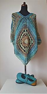 Iné oblečenie - Pončo s mandalou - 100 % bavlna - 10552176_