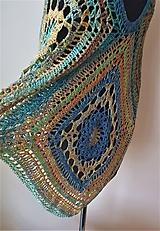 Iné oblečenie - Pončo s mandalou - 100 % bavlna - 10552177_