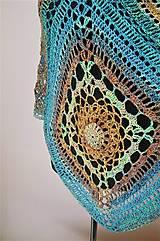Iné oblečenie - Pončo s mandalou - 100 % bavlna - 10552178_
