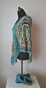 Iné oblečenie - Pončo s mandalou - 100 % bavlna - 10552179_