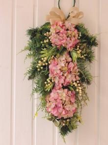 Dekorácie - celoročná dekorácia na dvere - 10550424_