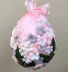 Dekorácie - Velikonoční kraslice XXL - růžová - 10550620_