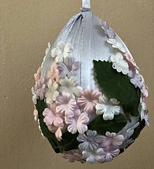 Dekorácie - Velikonoční kraslice XXL - šedá - 10551210_