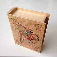 Krabičky - Krabička kniha na svadobné fotky - TLAČ NA DREVO - 10550571_