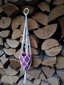 Dekorácie - Zavesný kvetináč - 10551888_